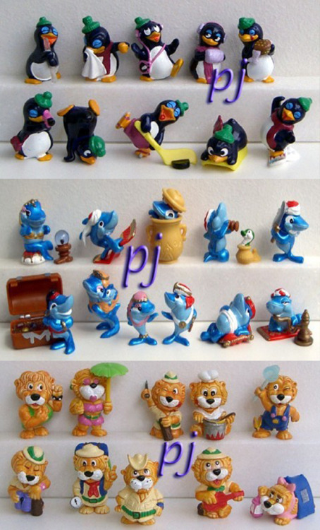 Anyone remember these? :P I had 6 of the penguins, 3 sharks and 5 lions haha.