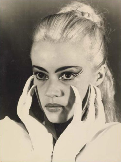 Jeanne Moreau as Le Sphinx in a 1954 adaptation of La Machine infernale by Jean Cocteau Photo by Thérèse Le Prat
