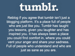 I wanna believe this but NO ONE EVER TALKS TO ME ON TUMBLR! THIS IS SOOO FALSE! I'm a loser around here like WTF?
