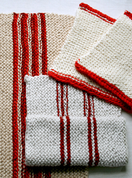 cardinalacre:  gigikennedy:  Soft Cotton Knit Dishtowels - the purl bee   I really need some of these.