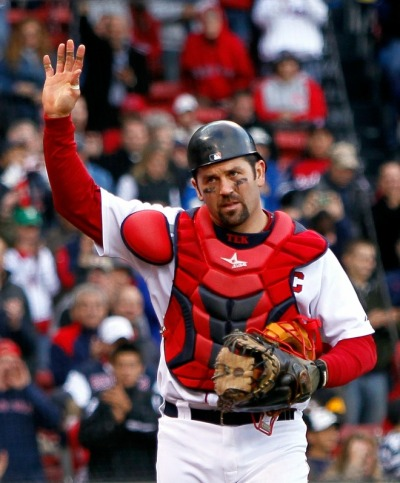O Captain, Our Captain Jason Varitek, in what could be his last game as a member of the Red Sox or even in the MLB, salutes the Fenway Faithful in the last game of the 2010 season. Thank you, Jason. Photo by Jim Rogash/Getty Images