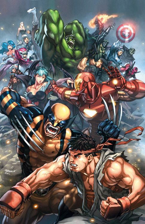 gamefreaksnz:  Marvel vs Capcom 3 promo piece by ~EspenG