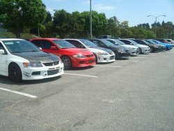 what's better than a group of Evos at a meet? nothin…