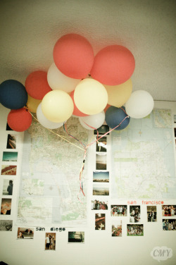 my old wall :[too lazy to rebuild this in my room now. i <3 balloons!