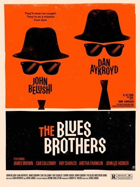 The Blues Brothers by Olly Moss (part of a set of 9 posters for Rolling Roadshow)