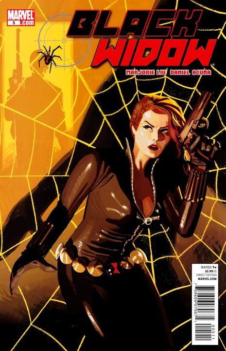 1210. Black Widow v4 #5, October 2010, written by Marjorie Liu, penciled by Daniel Acuna My Score: 8.1