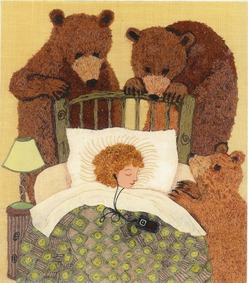 zasu:  Goldilocks by Anthea Brown (textile art)