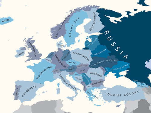 Europe According to Russia (Mapping Stereotypes Project, by Yanko Tsetkov)