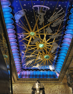 The ceiling of the Egyptian Staircase, in Harrod's, London.