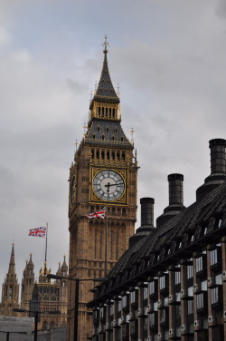 Big Ben is a big clock.