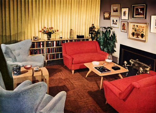 retrorouge:  1950s home interior decoration (thats the style i want in my house, well when i have one)