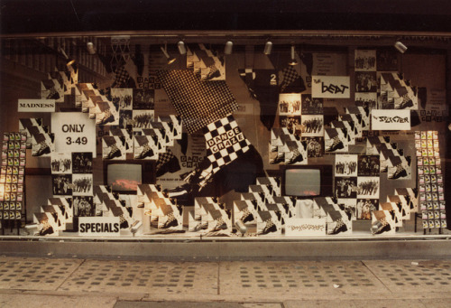 Oxford Street, London 2-Tone Dance Craze window display, August 1981