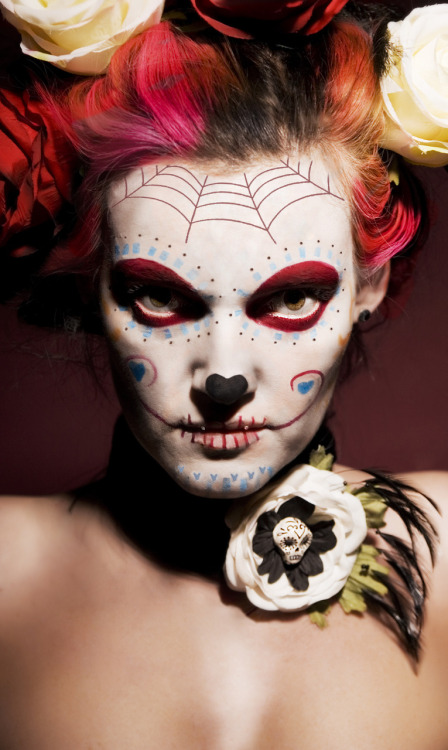 Arkangel666 As A Beauty Sugar Skull Ellll Dia De Los Muertos ♥