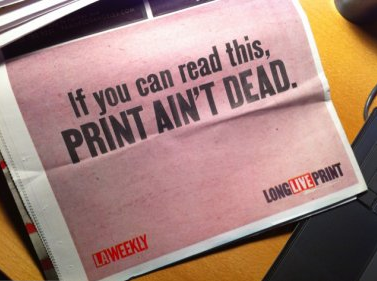 PRINT AIN'T DEAD!! (yes, I am a CMYK girl)