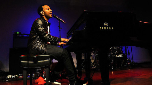 A little something for the afternoon: John Legend and The Roots on World Cafe Live (and here's an interview with Questlove) (Photo: Doug Seymour)