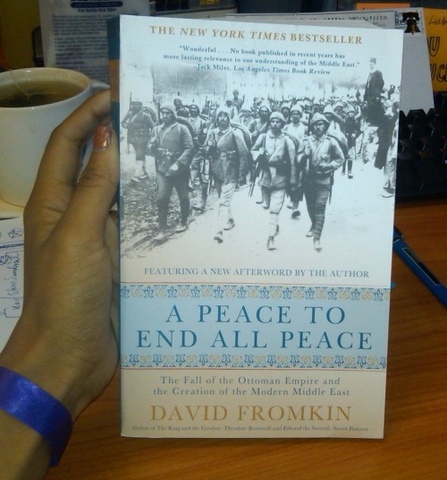 This week's read: A Peace to End All Peace by David Fromkin