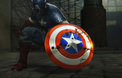 From the Captain America game. These things usually try to use models from the movie, which makes his costume here interesting.