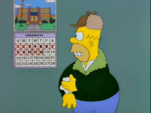 simpsonsimages:  Lousy Smarch Weather
