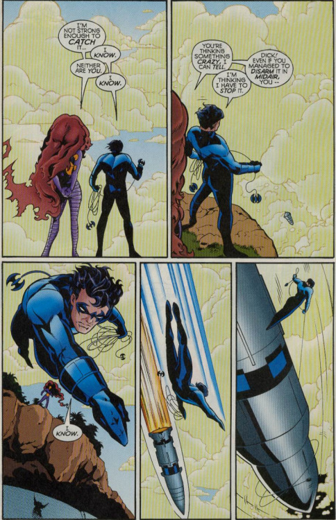 fyeahdickgrayson:  What a hero. :) [The Titans v1 #12]