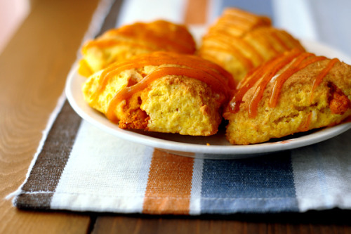 Delish Pumpkin Scones (by Zakiah Abdullah)  On a pumpkin spree - these tasted just like Starbucks'!!