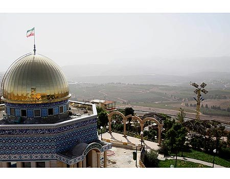 almas88:  afghanipoppy:  This is a replica of Al Aqsa Mosque (originally in Palestine) being made in Lebanon, a few hundred meters from the Israeli border, in honor of the Iranian President Mahmoud Ahmadinejad's upcoming visit. Wait it gets better:  Bulldozers and cranes have been working for months on the site, which will also include a boardwalk and a lookout point from which Ahmadinejad plans to throw a symbolic stone at Israel. The president will also inaugurate the mosque.    whaaaaaaaaaaat?  wow. wait, what?