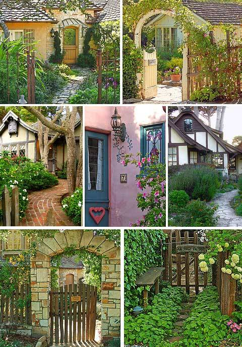 garden-artistry:  Cottages in Carmel, CA