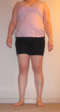 Me in one of my exercise outfits.