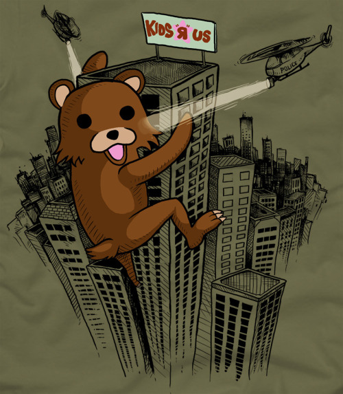 "King Pedobear. gamefreaksnz: ""TEE OFF ROUND 1 - PEDOBEAR RAMPAGE"" by Killer Napkins"