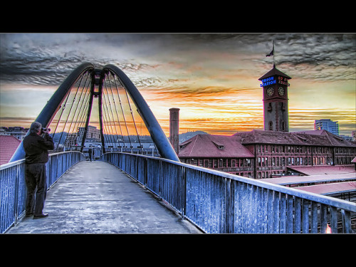 Sunset at Union Station, Portland, Oregon - HDR (by David Gn)