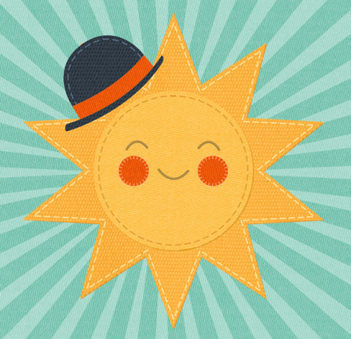 zaraillustrates:  The sun has got his hat on - hip hip hip hooray!