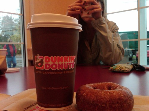 Dunkin with Shelby!