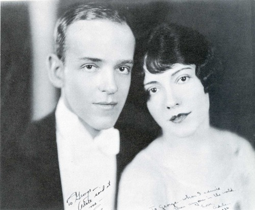 "jenbebe:  Fred and Adele Astaire ca. 1926. The ""George"" they signed this photo for is George Gershwin."