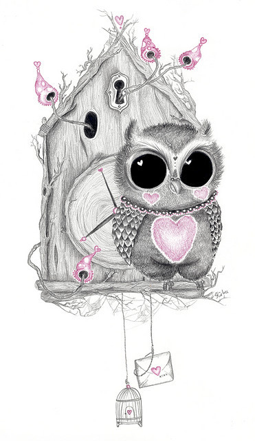 artlove:  If she finds it, she keeps it… (by Kirbee Lawler)  so very cute!!