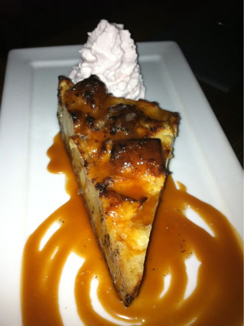 Salty caramel bread pudding.  Sublime Food Lounge in Culver City, CA.