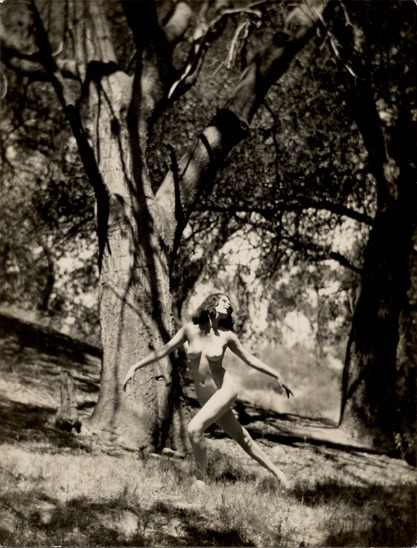 A Nude Tree Sprite,1920s by Edwin Bower Hesser