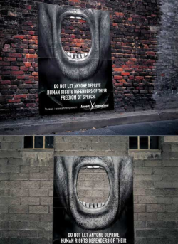 szymon:  Guerrilla posters from Amnesty International