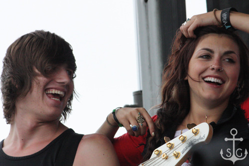 Sierra Kusterbeck and Devin Ingelido of VersaEmerge [Warped Tour '10 - Ventura, CA]