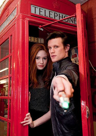 Doctor Who - The Doctor and Amy Pond (via rory-pond)
