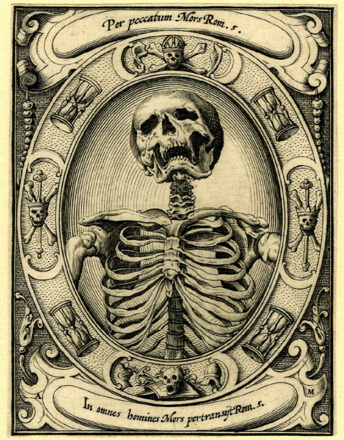 A Skeleton by Alexander Mair (1605).