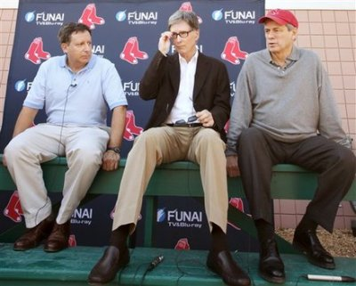 "Olé, Olé Olé Olé!  ""We love what John Henry did for the  Red Sox,'' said Treacy, chairman of the Liverpool Supporters Club in  Boston. ""If Liverpool wins the league in a few years, he'll be an  honorary citizen of Liverpool. The people would embrace him.''   Henry's  holding company, New England Sports Ventures, had its bid of $477  million accepted yesterday by Liverpool's board of directors. That money  would cover the debt and bank charges incurred by owners Tom Hicks and  George Gillett when they purchased the team in 2007.  What do you think about the Red Sox owners possibly acquiring an English football (soccer) institution?"