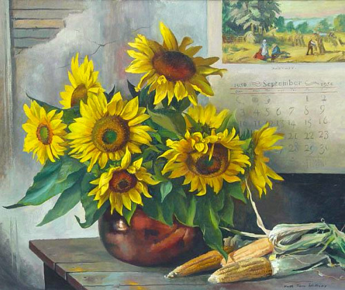 Keith Shaw Williams Sunflowers 1950