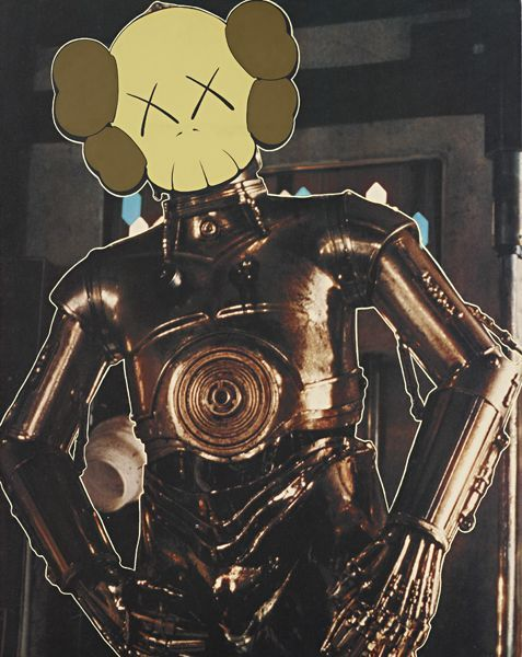 One of KAWS' older ad disruption pieces featuring C-3PO (via bflv)