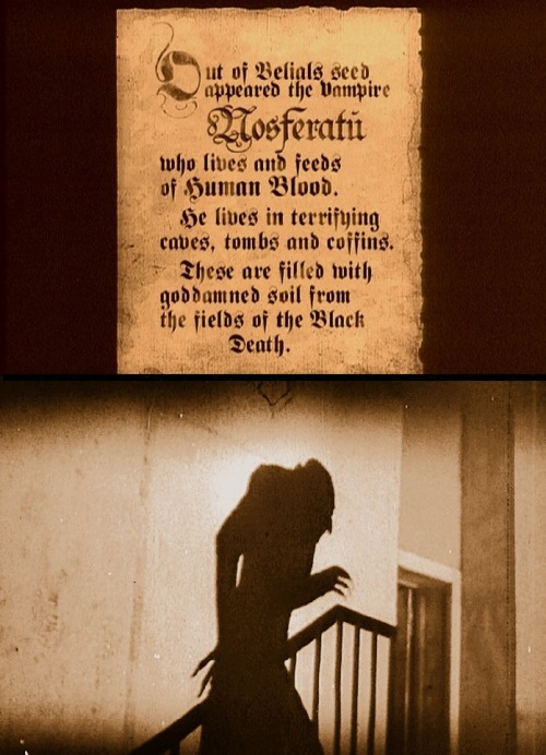 Nosferatu, A Symphony of Horror (1922, dir. FW Murnau) (entire film online here)