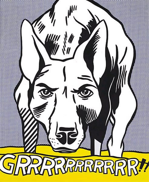 GRRRRRRRR! by Roy Lichtenstein