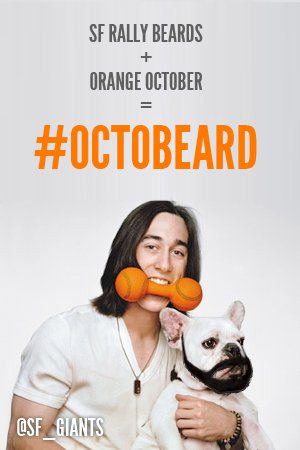 landielong:  caramhel:  plewbergoober:   Lincecum and his dog Cy are ready for #Octobeard are you? Rally Beards + Orange October = #Octobeard  this may be my new favorite picture   cute  bahahaha @sf_paulina i love it.