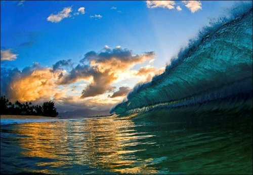 whatjeanlikes:  May beauty, love and happiness flow over you like this wave in the ocean.  I hope you are all having an amazing and lovely week.  Photo © Clark Little