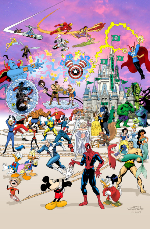 Disney/Pixar/Marvel Mash Up