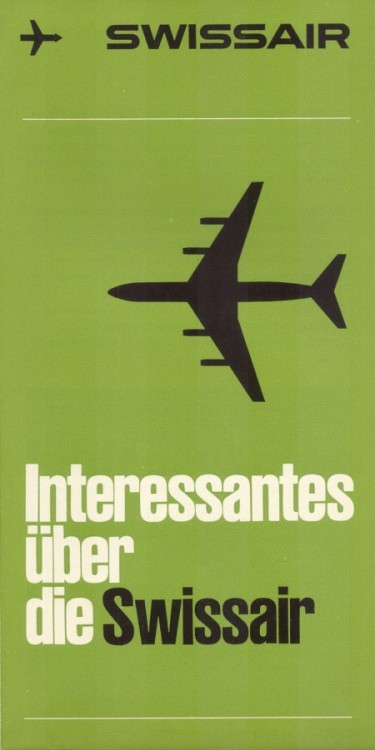 SwissAir poster, via ISO50.
