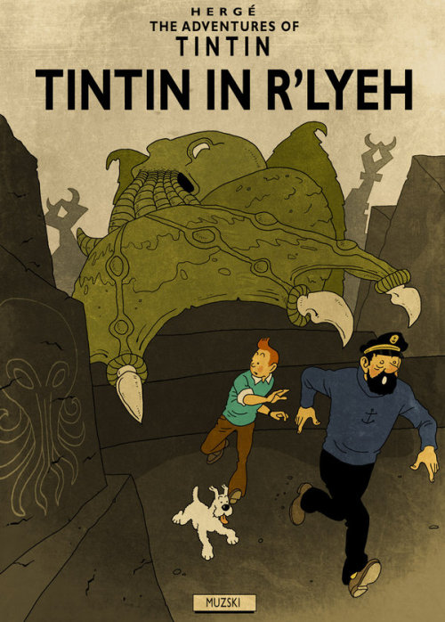 Tintin/Lovecraft mash-up by Murray Groat