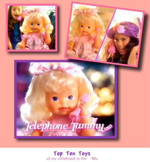 I use Tammy here to represent all the baby dolls of this kind (Baby Alive, Baby All Gone, etc.)  I loved them all.  This was high technology for sure. (recognize little Mila Kunis there?)